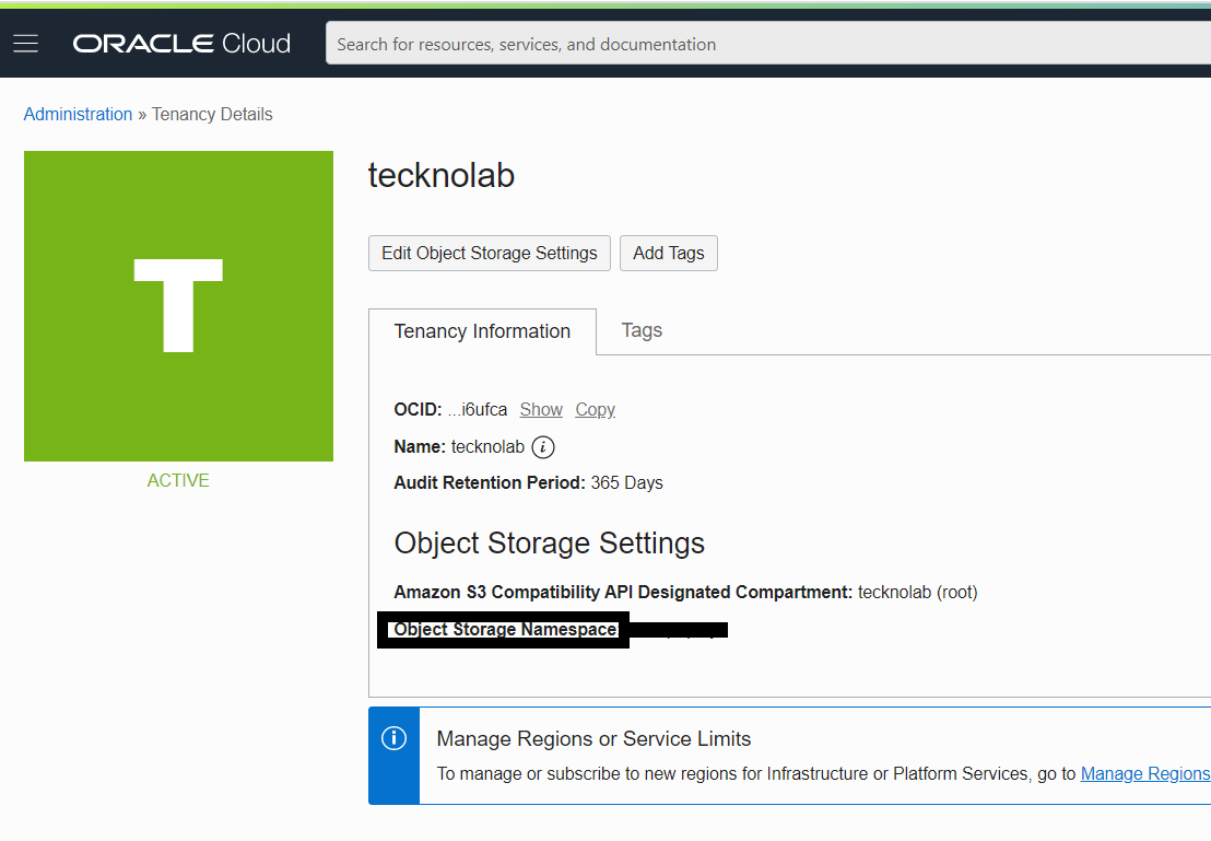 Oracle cloud with Tecknolab